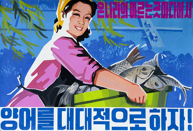 Propaganda poster North Korea