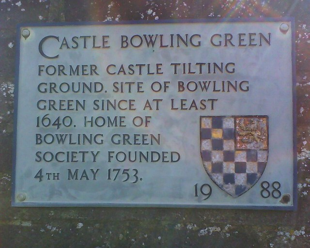 Photo of Castle Bowling Green grey plaque