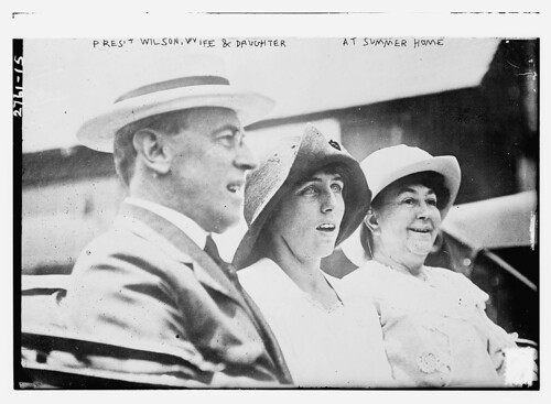 Pres't Wilson, wife & daughter at summer home  (LOC)