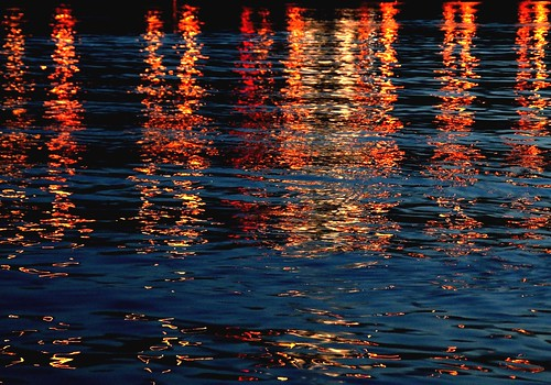 bridge reflection nature water colors lines night river lights evening dusk sony angles diagonal hudson alpha dslr reflexos shimmering a700