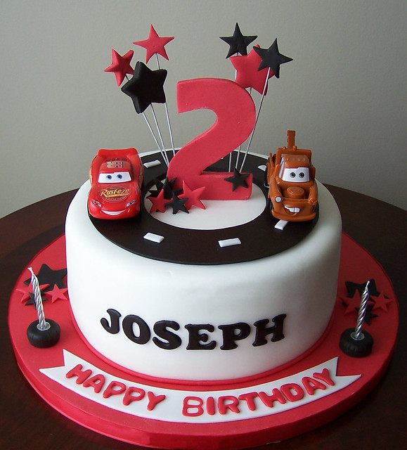 Birthday Cake Design For Son : Cars cake 9