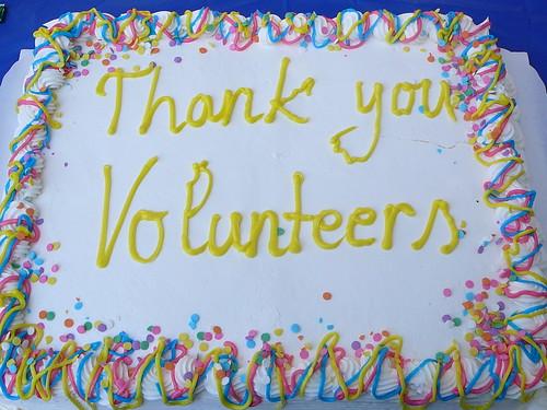 Thank you Volunteers cake.