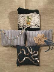 Lavender pillows blues 'n' greens