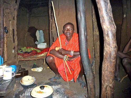 Maasai home, Kenya