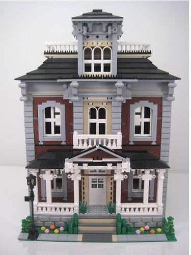Brickstone Manor Victorian Home Front View