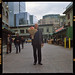 A gentleman at Pike Place Market with flowers. I forgot to ask his name - sorry!   Shot on Portra 800