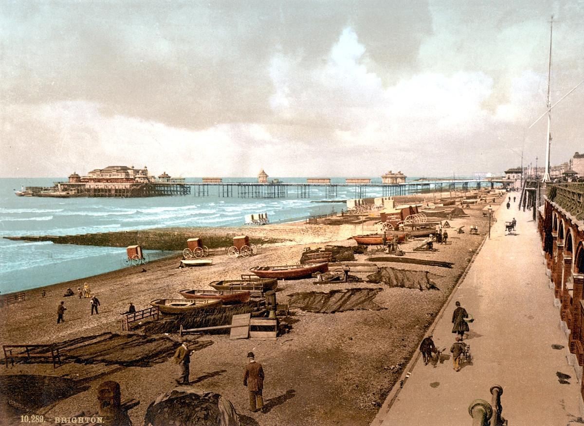 Brighton Pier, England, 1895