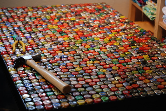 Beer Bottle Art Projects http://www.flickr.com/photos/quornflour/3615644454/