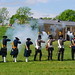 18th Century Swedish Infantry Fires Muskets