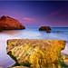 The Beach - Sunset at Praia da Rocha by andrewwdavies