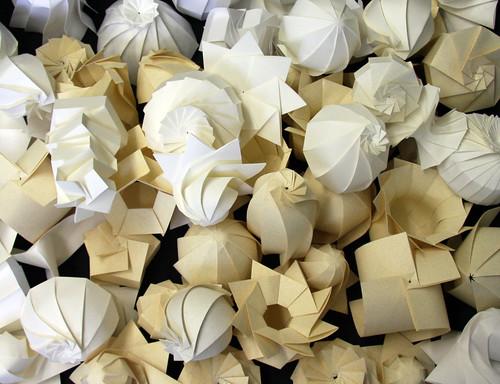 Paper Shells, paper, shell, origami, 3d, Jun Mitani, japan