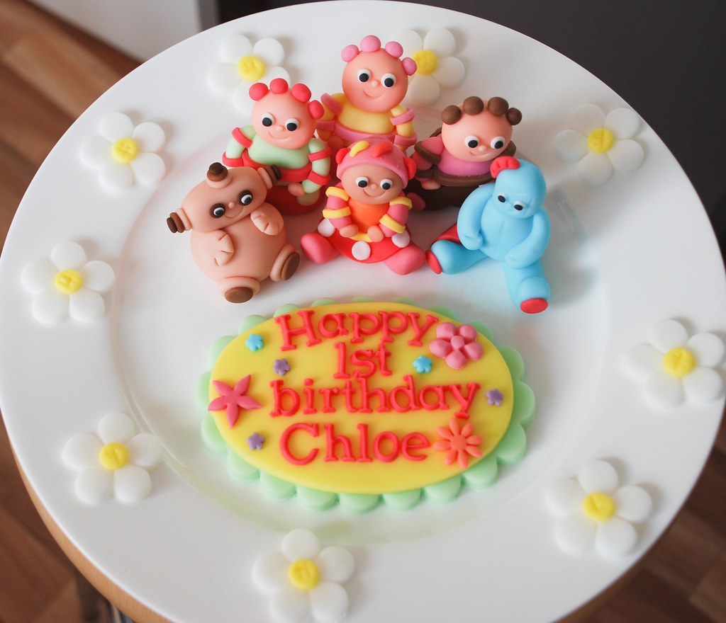 Upsy In The Night Garden Edible Cake Toppers For Childrens Birthday Iggle Piggle
