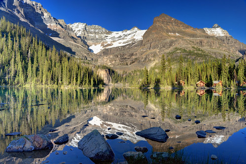 Lake Ohara at Dusk, Yoho National Park, British Columbia, Canada