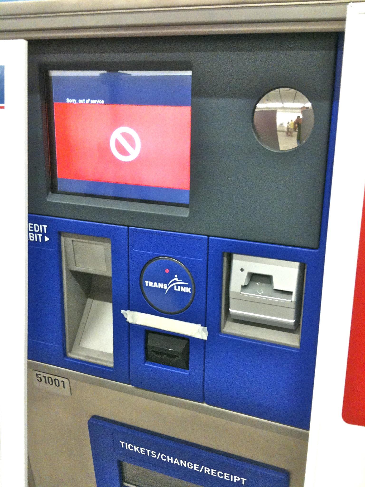 fare vending machine