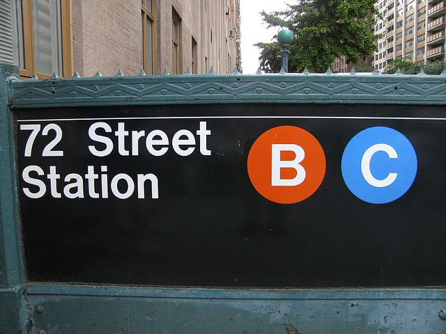 72nd street station sign