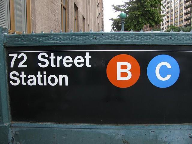 72nd street station sign