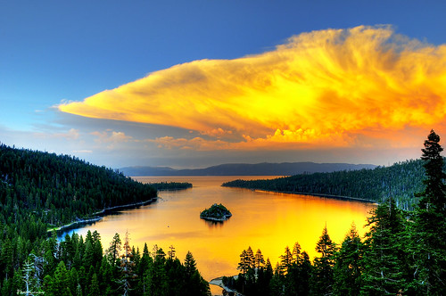 california ca trees sunset sky lake mountains reflection water clouds bay nikon tahoe laketahoe explore nikkor fp frontpage emerald f28 hdr emeraldbay southlaketahoe d300 scenicview 1755mm tonemapping explored 3000v120f nikond300 ☆thepowerofnow☆ yourbestshot2009