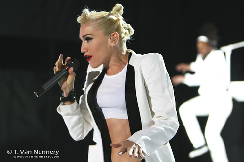 No Doubt performing live at the Shoreline Amphitheater in Mountain View, California.