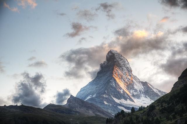 sunset @ matterhorn zermatt