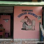 No Confusion about the Public Bathroom - Rivas, Nicaragua