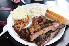 BBQ plate from Louie Mueller Barbecue