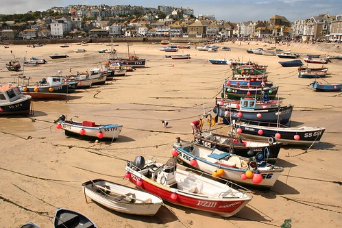 St.Ives Harbour, low tide by Stocker Images