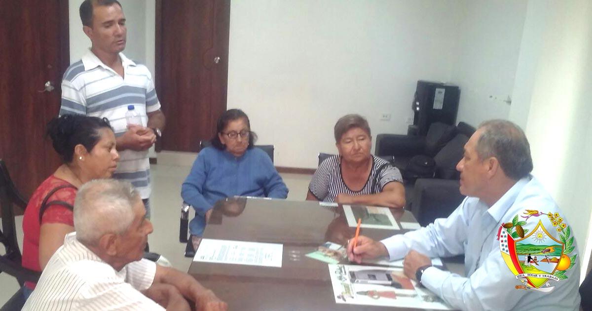 Reunión de trabajo con moradores del sector El Olimpo