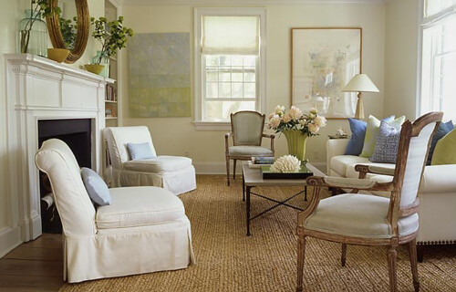 simple elegance classic white living room french chairs