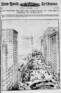 Do you recognize this New York thoroughfare? No! Then bring a prophetic eye to bear on it (LOC)