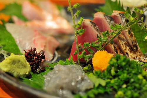 sashimi raw fish
