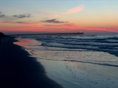 beach sunrise pier surfside