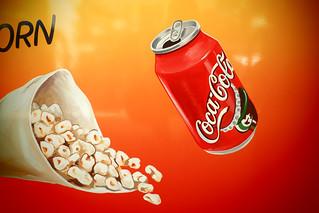 pop corn and coca cola