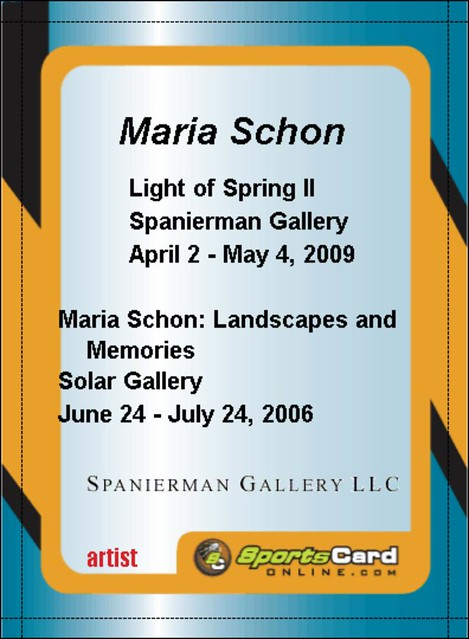 Maria Schon Baseball Card Back 2009 Digital File Dime