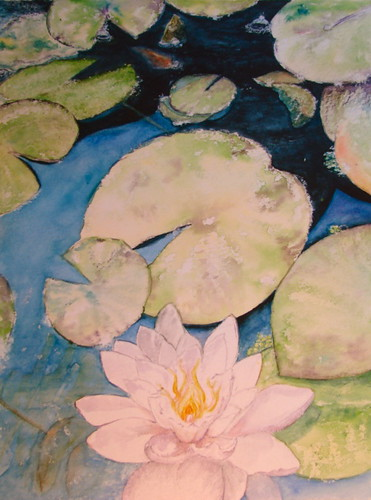 Lotus watercolour challenge