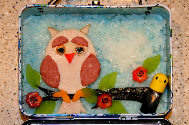 Owl Bento Lunch - 8.24.2009