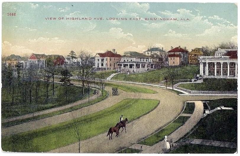 A Section of Highland Avenue, Birmingham, Alabama, c.1910