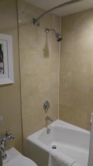 Bathtub and Showerhead at the Hilton Seattle