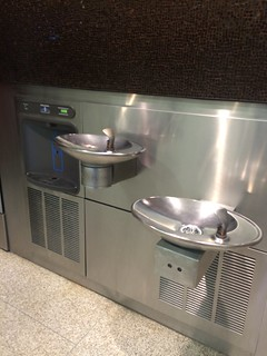 Water fountains at airports