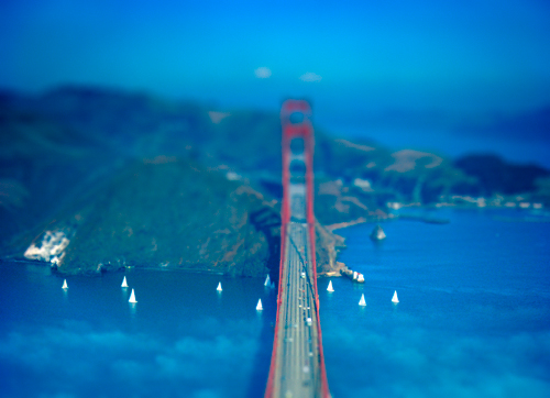 Tilt-Shift Golden Gate Bridge