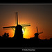 Giants Against Sunset 1 - Kinderdijk by DolliaSH