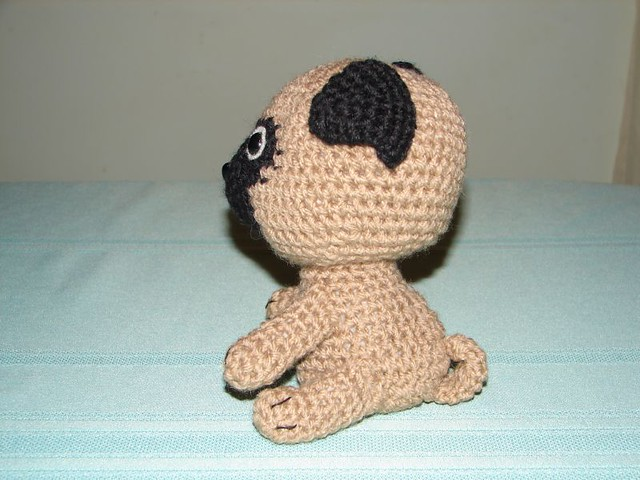 Free Crochet Pattern For Pug Dog : Amigurumi Pug finished pug using a pattern from Jaravee ...