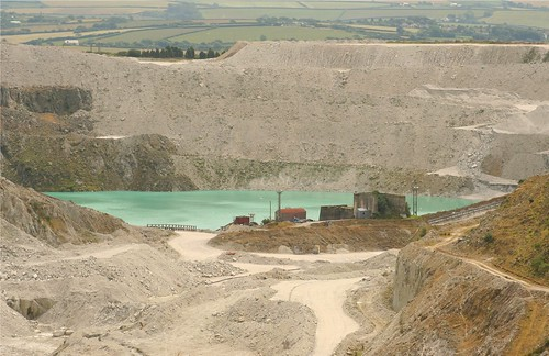 China Clay Pit, near St.Austell by Claire Stocker (Stocker Images)