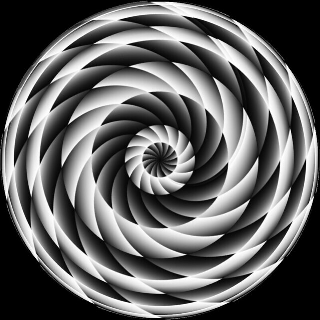 Op Art Black and White Spiral