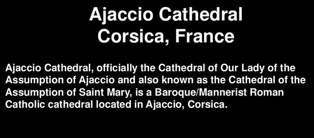 Header of Ajaccio Cathedral