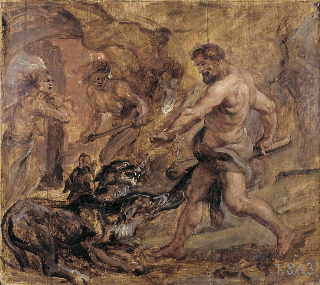 Rubens: Hercules taming Cerberus (or Kerberos)