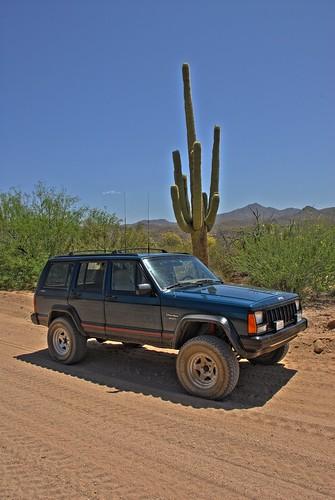 arizona southwest geotagged nikon desert jeep cherokee d200 saguaro hdr