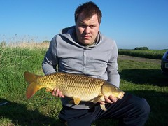 14lb 12oz common carp from Moss Lake on 30.05.09, tigernut flavour boilie in the margin by Martin Niblock.