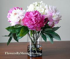 Silk Flower Arrangement Purple Pink White Silk Purple Pin Flickr