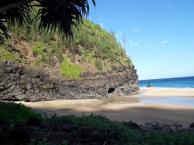 Playa de Hanakapiai, Parque estatal de la costa de Na Pali, Isla de Kauai