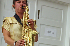 reed instrument, saxophone, saxophonist, brass instrument, wind instrument,